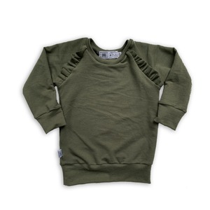 Flutter Sweatshirt in Pine