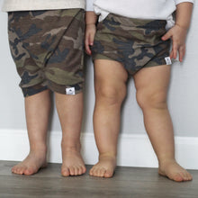 Load image into Gallery viewer, Camo Bummies or Harem Shorts for Baby Toddler and Kids