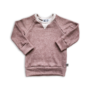 Crew Neck Sweatshirt in Mulberry