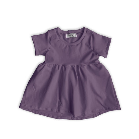 Peplum Tee in Solid Mulberry