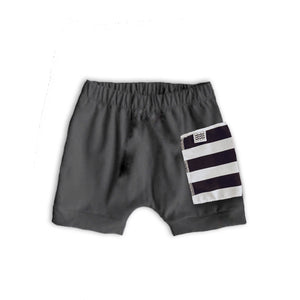 Sidecar Pocket Crew Shorts in Slate
