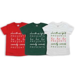 "Baby + Youth ""Christmas Thoughts"" Tee (choice of color)"