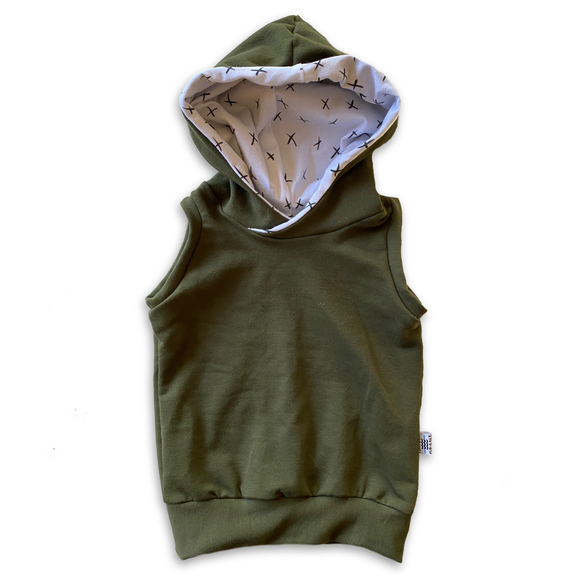 Hooded Tank in Eucalyptus + Mono Ink