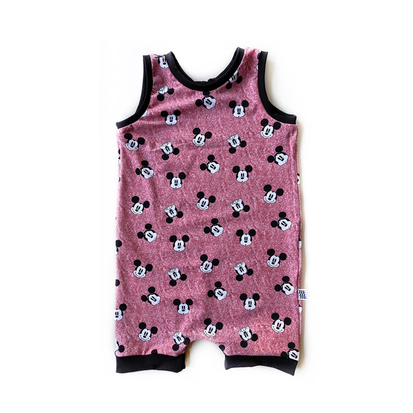 Limited Edition Romper in Faces of Mickey (choice of pants or shorts)