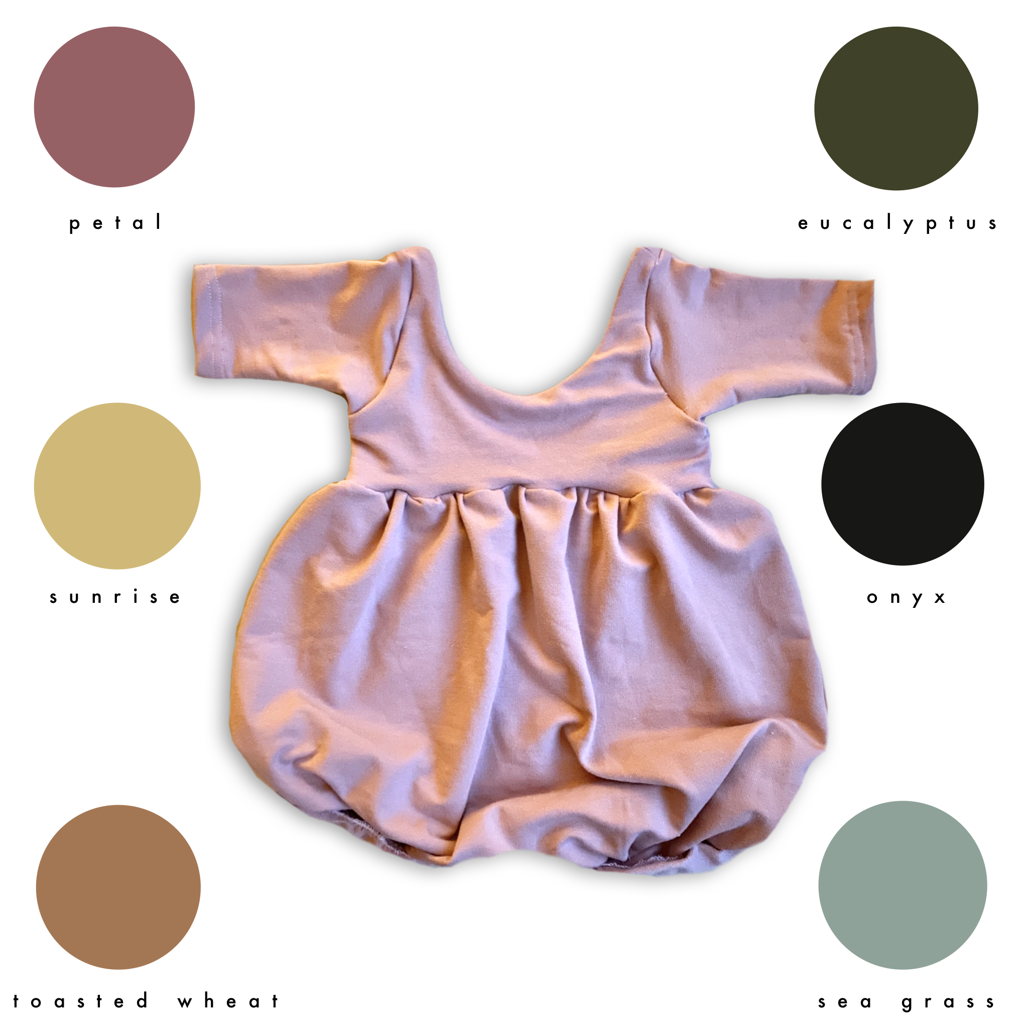 3/4 Sleeve Bubble Romper (choice of color)