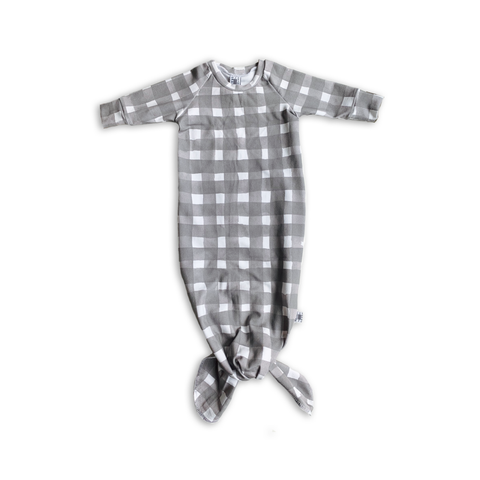 Limited Edition Knotted Sleeper Gown  in Watercolor Gingham