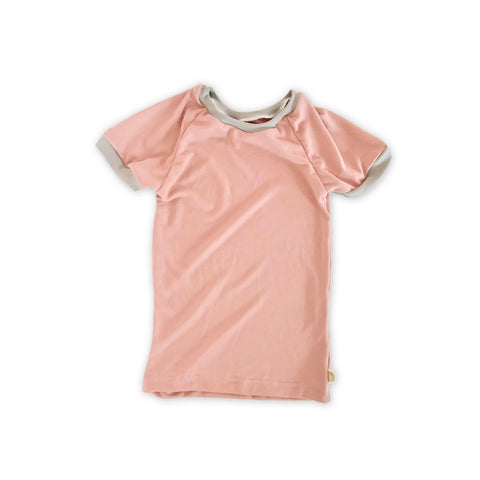 Heirloom Pajama Top in Pink Sand (choice of sleeve length)