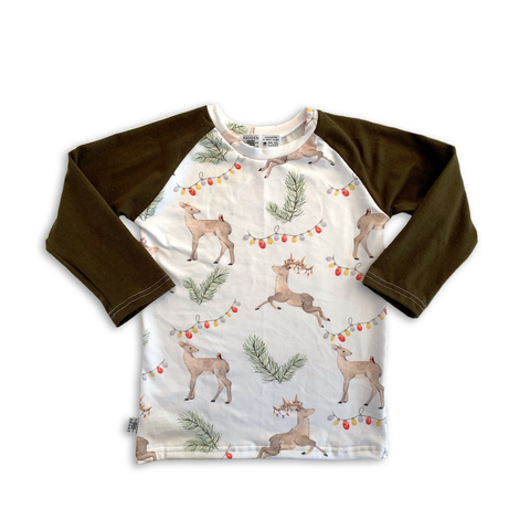 Limited Raglan in Vintage Reindeer (choice of sleeve length)