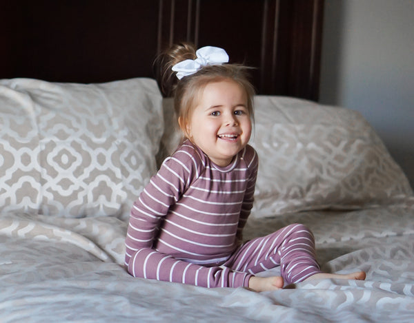 Heirloom Pajamas in Bold Sugarplum Stripe