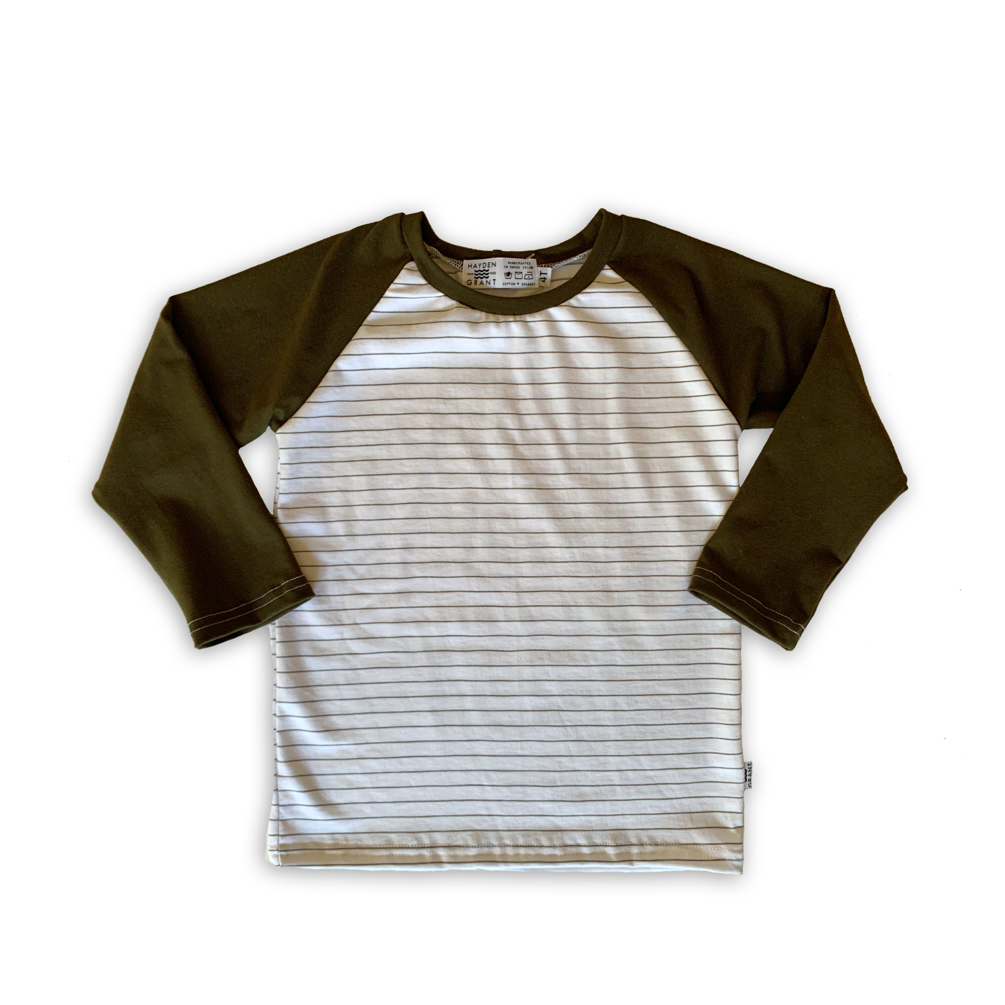 Handcrafted Raglan in Pine (choose of sleeve length)