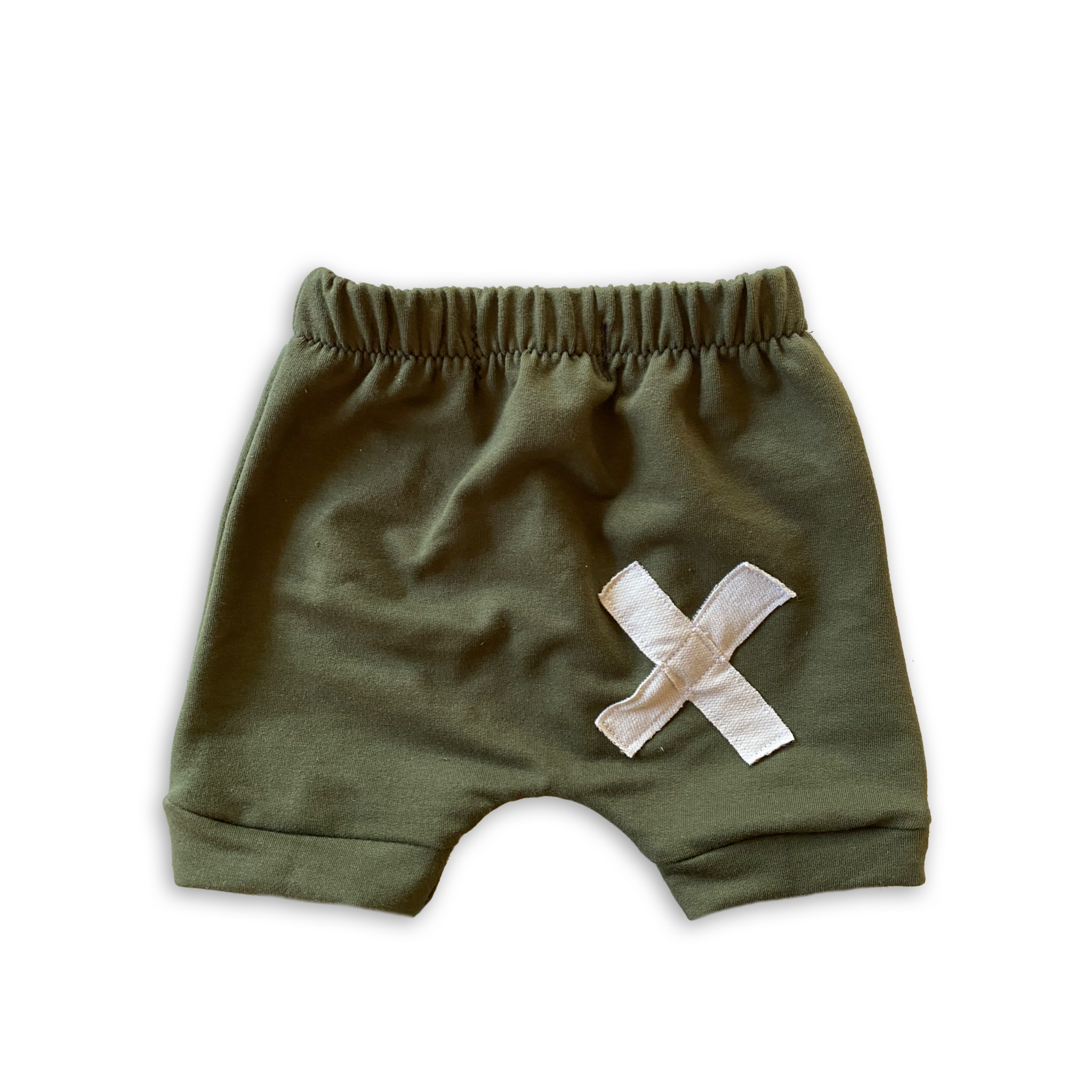 X Patchwork Crew Shorts in Eucalyptus