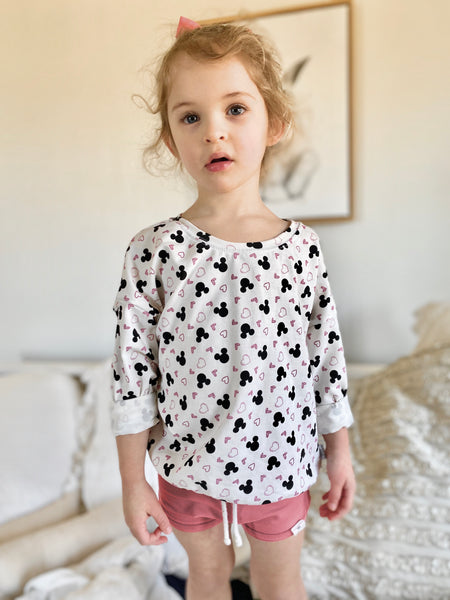Limited Edition Long Sleeve Dolman in Love Minnie