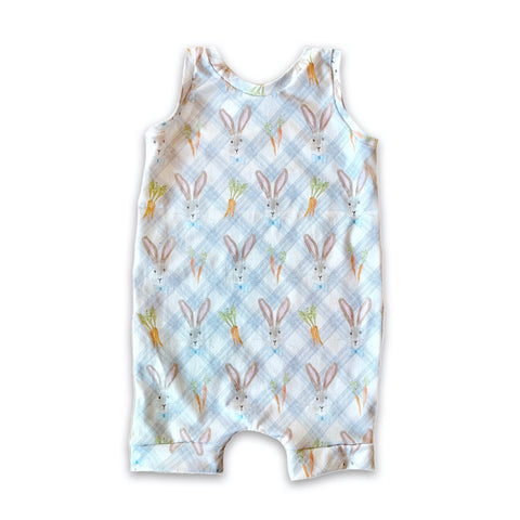 Limited Edition Romper in Mr. Bunny (choice of length)