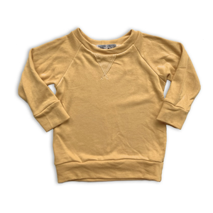 Crew Neck Sweatshirt in Butternut