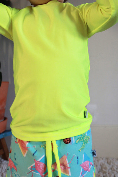 Neon Swim Rash Guard
