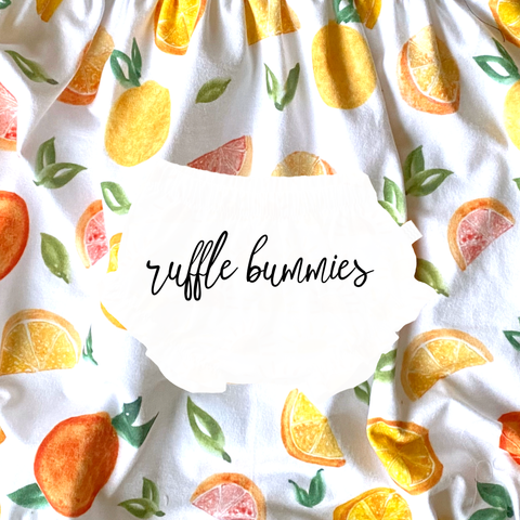 Ruffle Bummies in Citrus