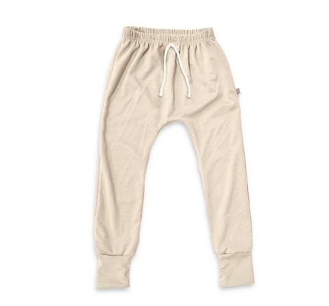 Essential drawstring Joggers in Oat