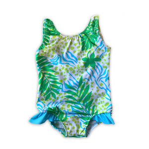 Palm Beach Ruffle Bum One Piece Swimsuit