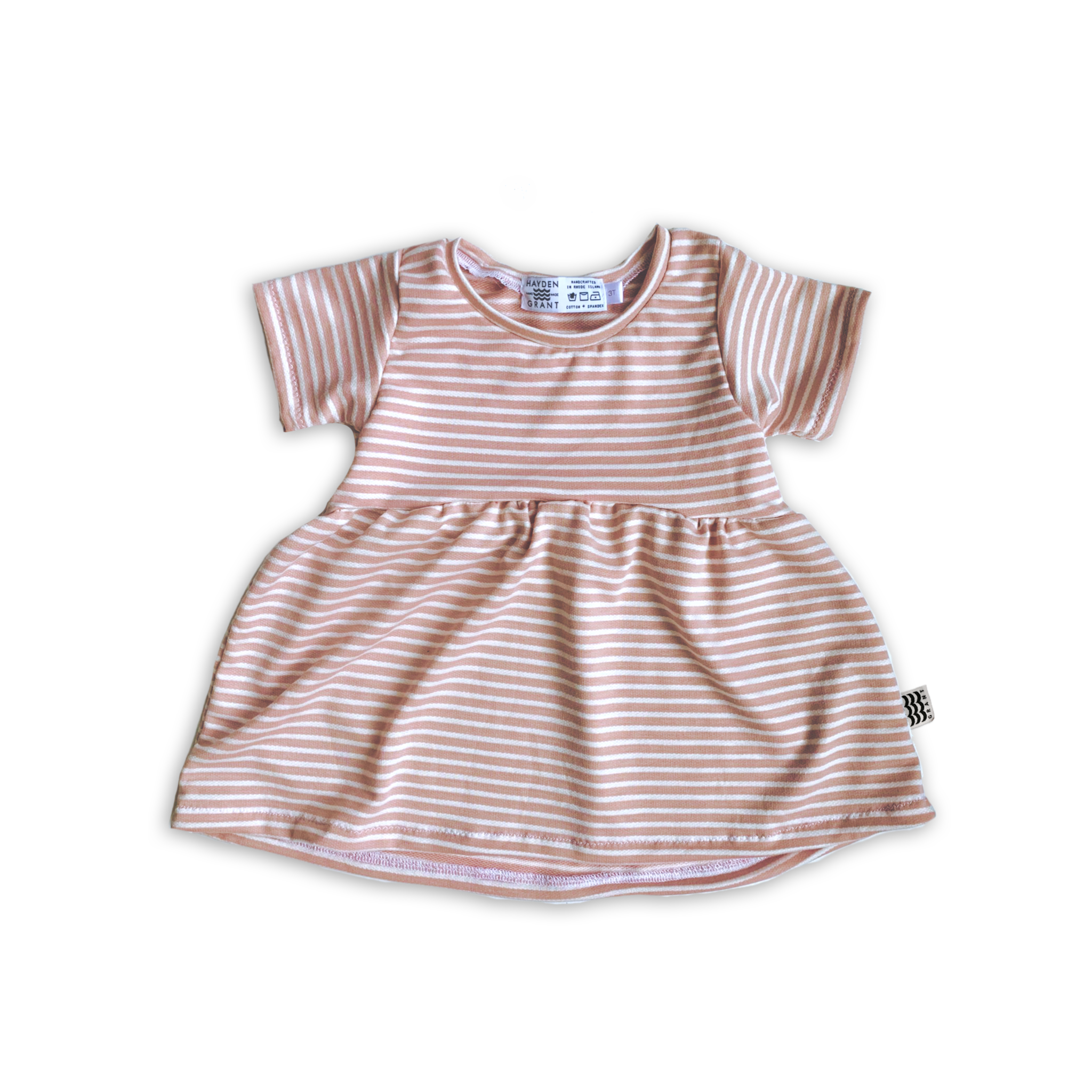 Peplum Tee in Rose Water Stripe