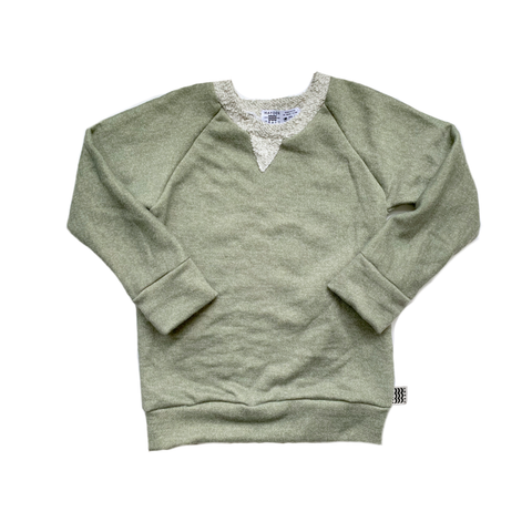 Crew Neck Sweatshirt in Green Tea