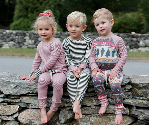 Heirloom Pajamas in Holly Berry Stripe