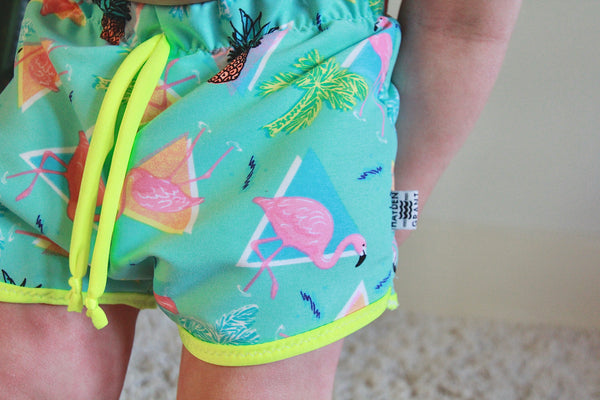 Miami Vice Swim Boardies [Cropped Board Shorts]