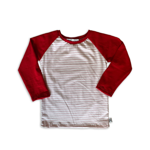Handcrafted Raglan in Holly Berry (choose of sleeve length)