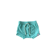 Load image into Gallery viewer, Capri Blue (Seafoam) Harem Shorts or Bummies for Baby Toddler and Kids