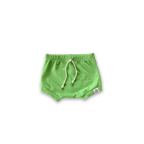 Lime Green Bummies or Harem Shorts for Baby Toddler and Kids