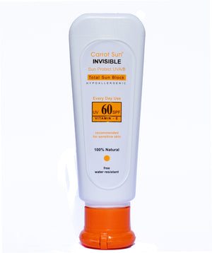 Carrot Sun® Invisible SPF 60+ Cream UVA/UVB Protection for Sensitive Skin 95ml