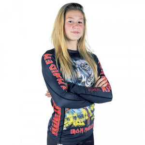 Kids Tatami x Iron Maiden Number of the Beast Rash Guard