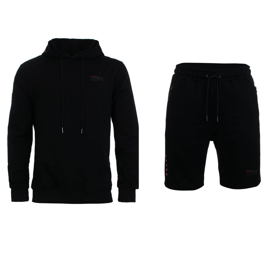 Apex Perform Short Tracksuit - Black