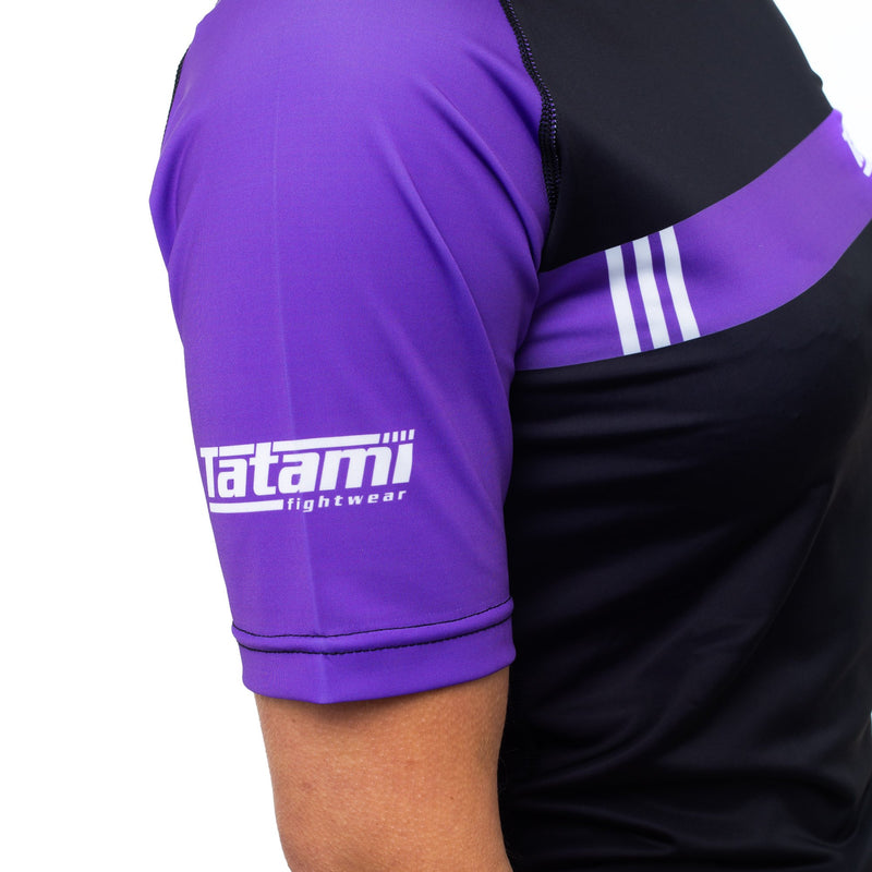 Ladies IBJJF 2020 Ranked Short Sleeve Rash Guard - Purple