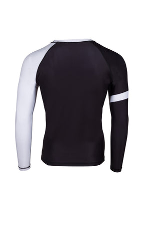 PREDATOR IBJJF RANK RASH GUARD WHITE Back