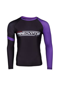 PREDATOR IBJJF RANK RASH GUARD PURPLE Front