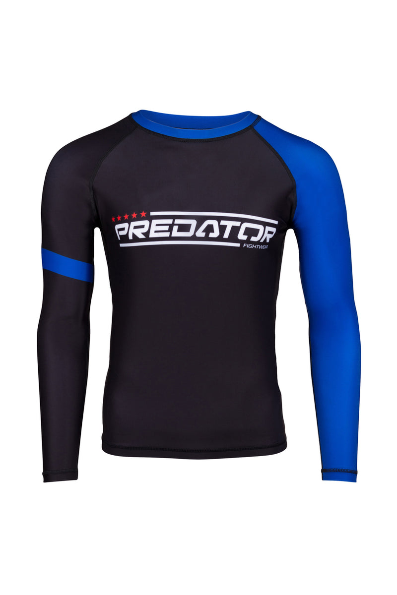 PREDATOR IBJJF RANK RASH GUARD BLUE