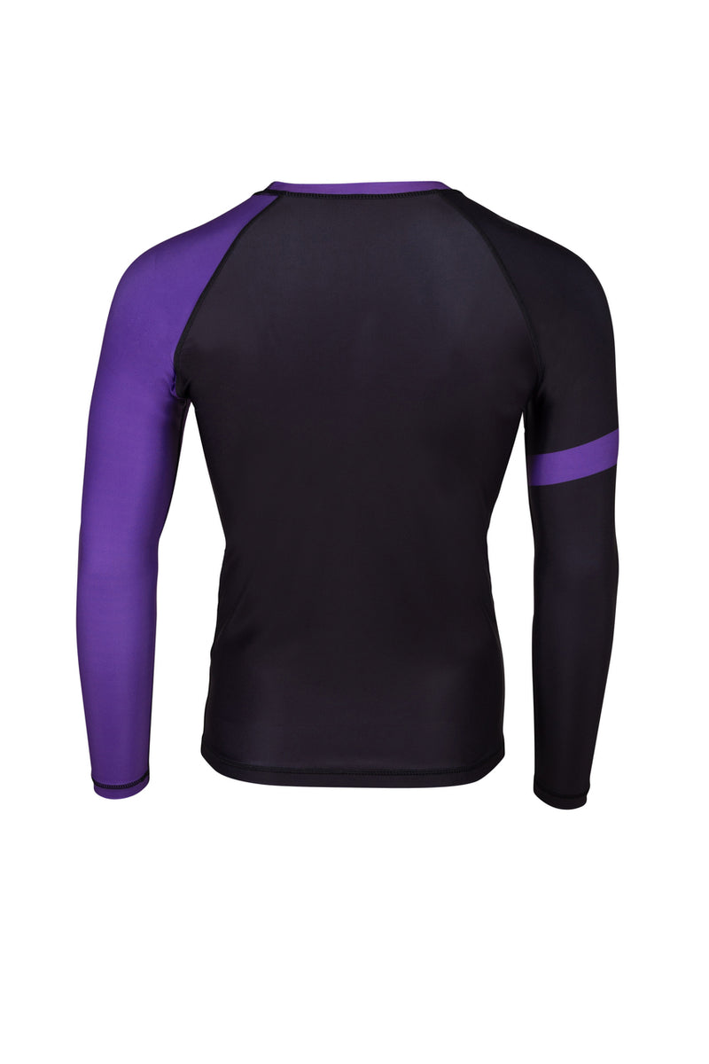 PREDATOR IBJJF RANK RASH GUARD PURPLE Back