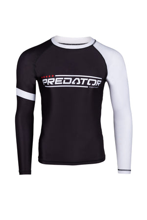 PREDATOR IBJJF RANK RASH GUARD WHITE Front