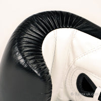 BGL3 Fairtex Black-White Lace-up Sparring Gloves