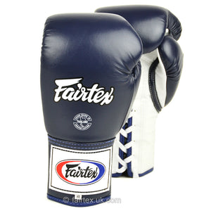BGL6 Fairtex Blue Lace-up Competition Gloves