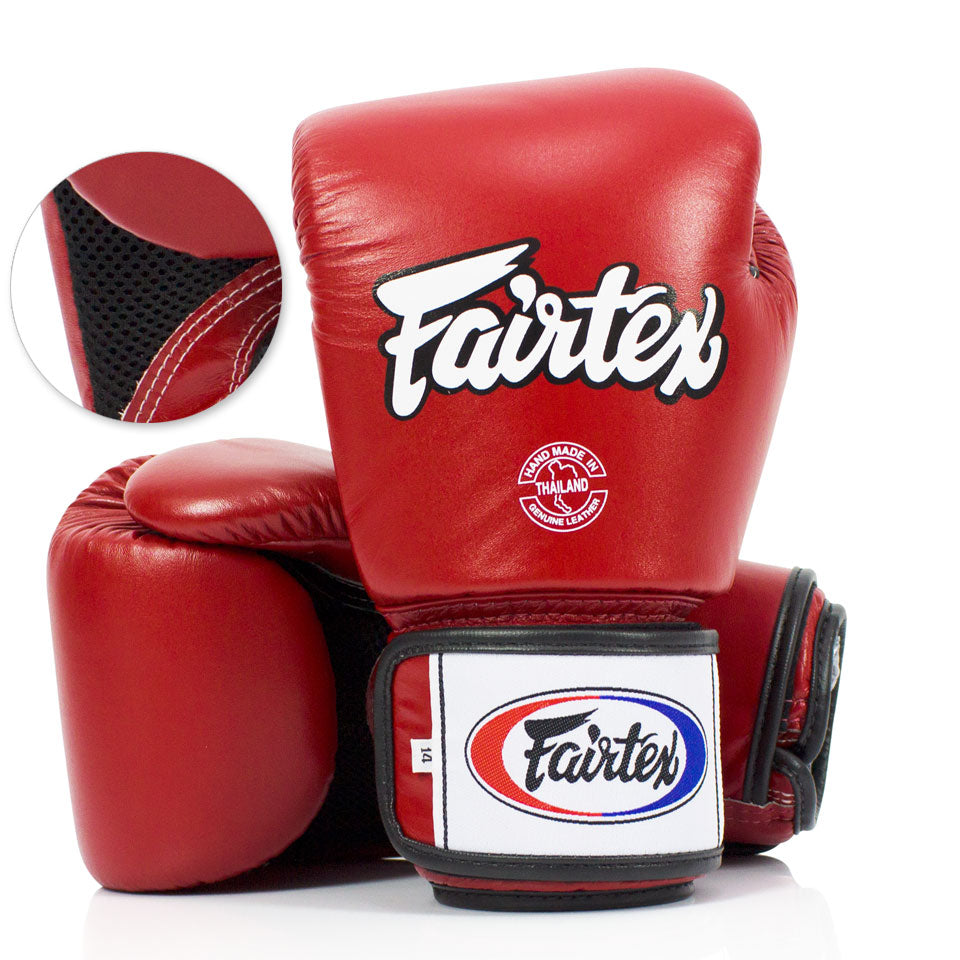 BGV1-B Fairtex Breathable Gloves Red