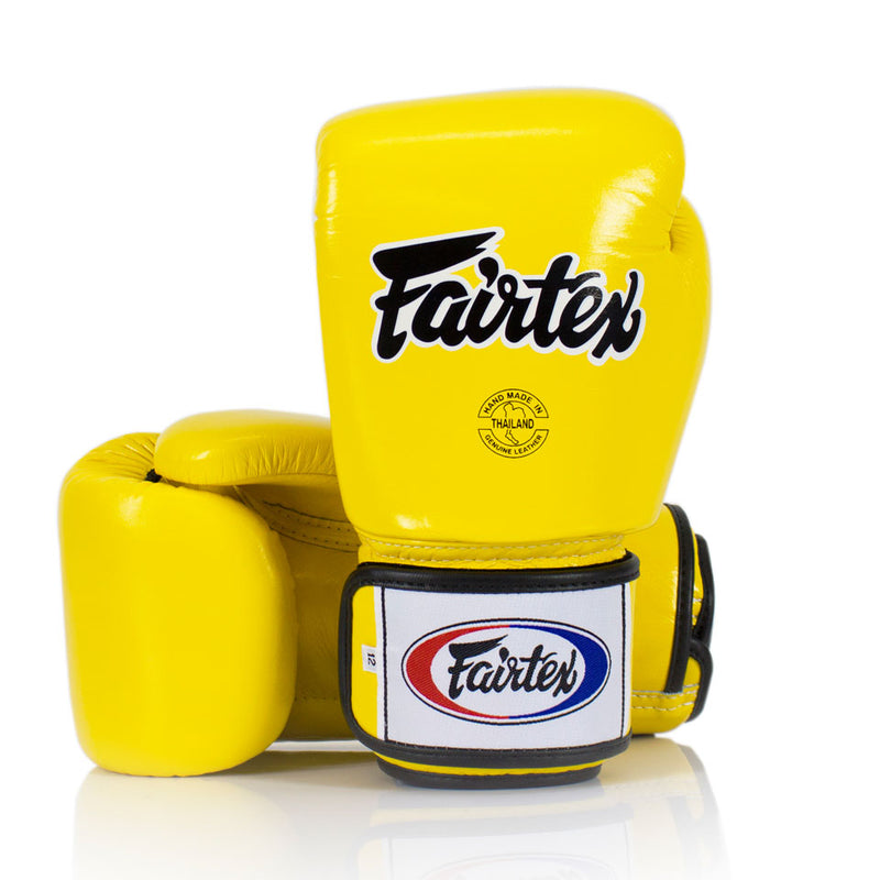 BGV1 Fairtex 3-Tone Yellow Boxing Gloves