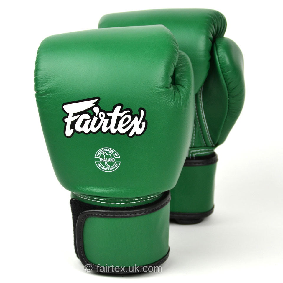 BGV16 Fairtex Forrest Green Leather Boxing Gloves