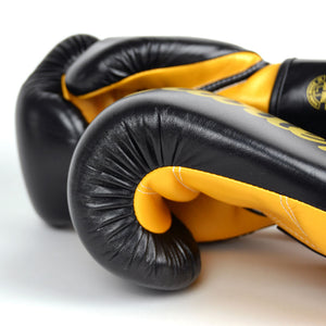 BGV18 Fairtex Black-Gold Super Sparring Gloves