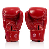 BGV19 Fairtex Red Deluxe Tight-Fit Gloves