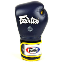 BGV9 Fairtex Blue-Yellow Mexican Style Boxing Gloves