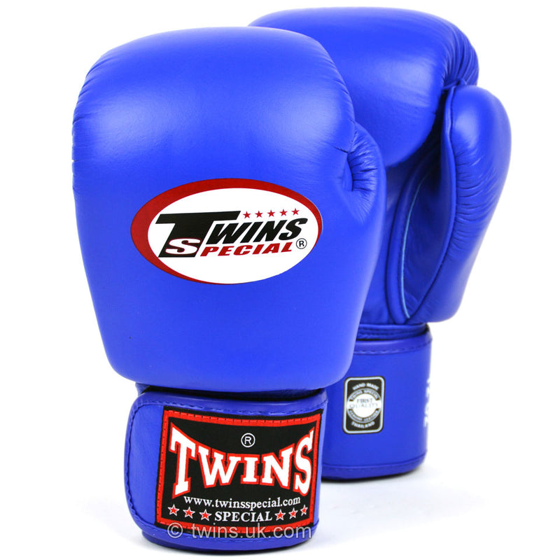 Twins Blue Velcro Boxing Gloves