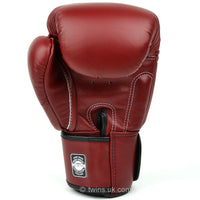 BGVL3 Twins Maroon Velcro Boxing Gloves