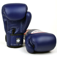 BGVL3 Twins Navy Blue Velcro Boxing Gloves