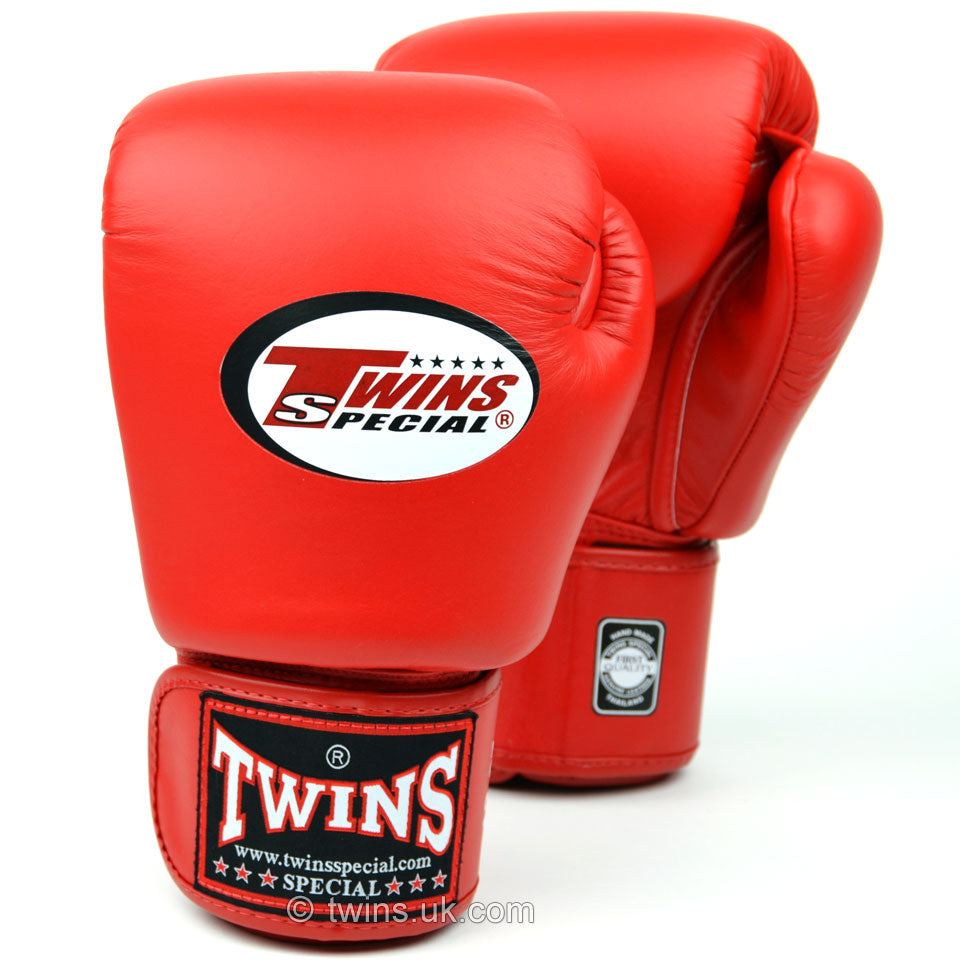BGVL3 Twins Red Velcro Boxing Gloves